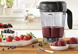 Vitamix 7500 with Blueberry Sorbet Ice Cream